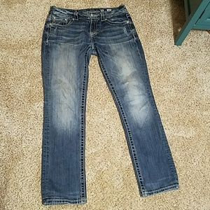 Miss Me jeans with black and white pocket details